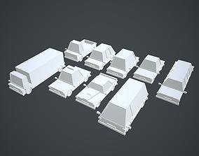 Cars 9 Types Pack No Texture 3D asset