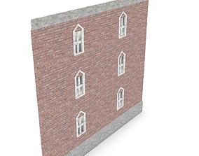 3D model Apartment Building Wall