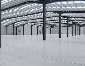 3D asset Industrial Warehouse Interior 10