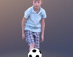 3D asset Leo 10190 - Footballer Child