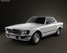 3D Mercedes-Benz SL-Class R107 coupe 1972