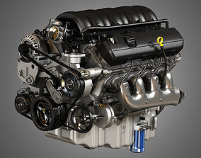 3D model 1500 Silverado Engine - V8 Pickup Truck Engine