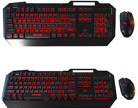3D Computer mouse and Keyboard