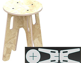 3D printable model Stool MC for CNC router cut other