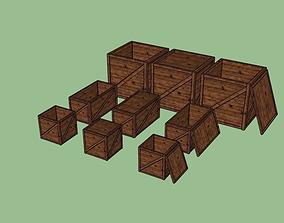 boxes 3D asset