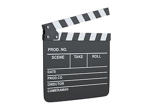 Clapperboard lowpoly 3D model low-poly