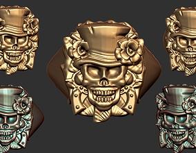 Skull Signet Ring 3D print model