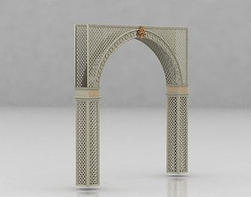 3D entrance Islamic Morocco Arch for interior design