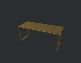 Gold Metal Modern Table 3D asset