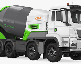 Electric Hybrid Mixer Truck Energya E9 3D model