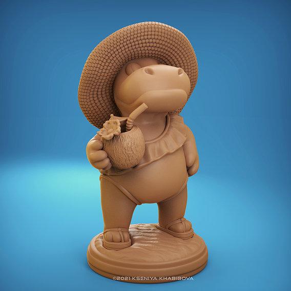 Hippo on vacation