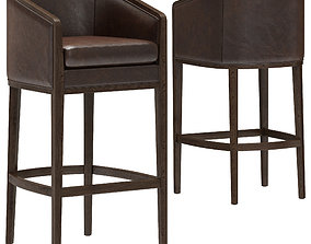 3D Restoration Hardware Dixon Leather Stool