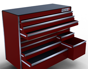 3D model Professional Rolling Tool Box