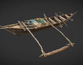 3D asset Indian Fishing Boat