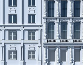 3D model Commercial Building Facade 03