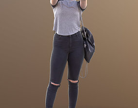 3D model Sheona 10501 - Standing Casual Girl taking Selfie
