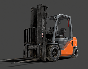 Forklift High-Poly 3D models PBR
