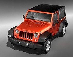 3D model Jeep Wrangler 2 door midpoly