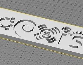 Coexist Sign 3D print model