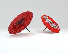 3D asset Japanese Umbrella