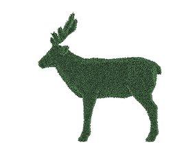 Deer in plant 3D asset