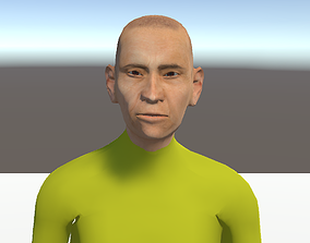 3D animated Unity Humanoid Model Male 003