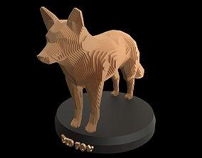 Parametric Red Fox 3D model
