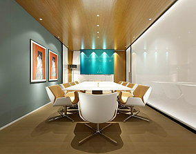 3D Conference room office reception hall 36