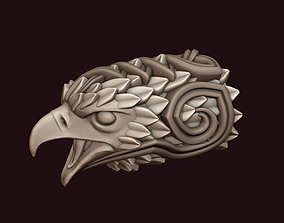 Falcon head with ornament 3D print model