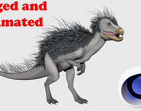 Pegomastax dinosaur Rigged and Animated 3D asset