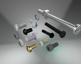 Bolt and nut 3D