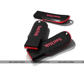 3D model Sandisk Cruzer blade