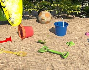 Beach toys sand 3D model