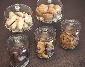 3D model Cookies in Glass Jars