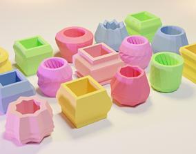 3D model 15 Flower Pots for Succulent Plants 3D Print