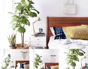 Scandinavian Bed Room 3D model
