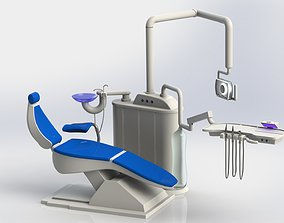 3D dental chair equipment cabinet