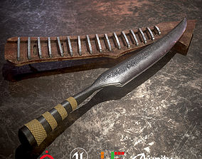 3D model Game Ready Machete D180321