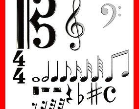 3D Musical Symbols