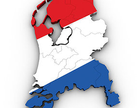 Map of the Netherlands 3D