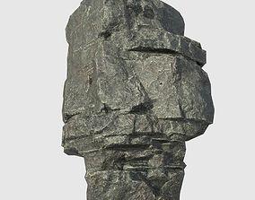 Low poly Beach Cliff Rock 01 3D asset