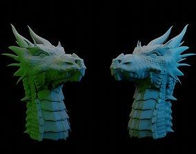 Dragon Head 3D statue