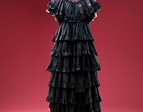 3D asset Onion Dress Multi Layer Dancer