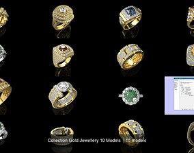 Collection Gold Jewellery 10 Models 3D