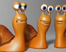 Cartoon Snail Rigged and print ready 3D model