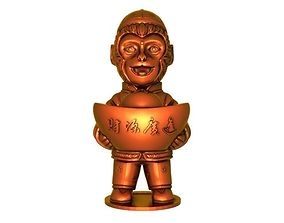 figure 3D printable model Lucky monkey