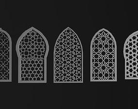 3D asset Arabian window - lowpoly