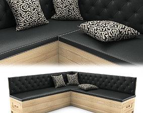 3D Corner sofa for kitchen
