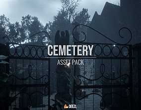 3D asset Cemetery Pack - Unreal Engine UE4 and FBX