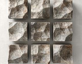 Panel rock stone 3D